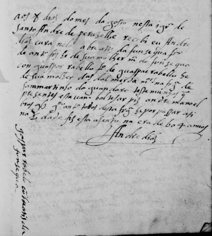 1604 - primeiro registo de casamento